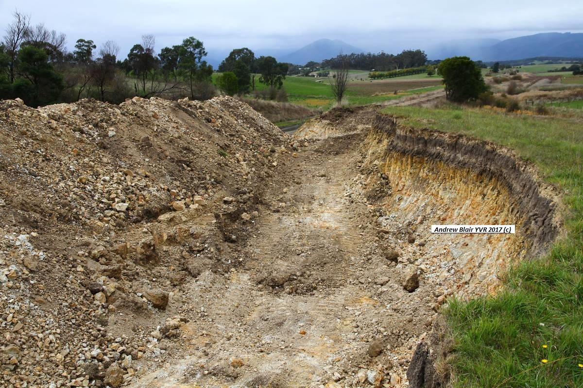 Tarrawarra platform excavation